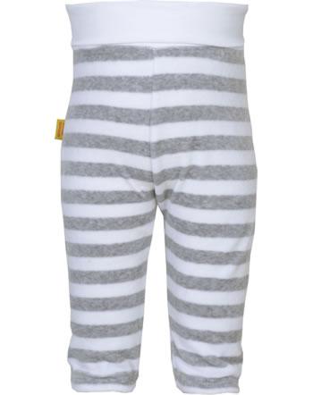 Steiff Bund-Hose Velours BASIC soft grey melange 0021221-9007