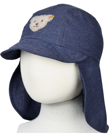 Steiff Hat Denim GO BEAR GO blue indigo 2011408-6050