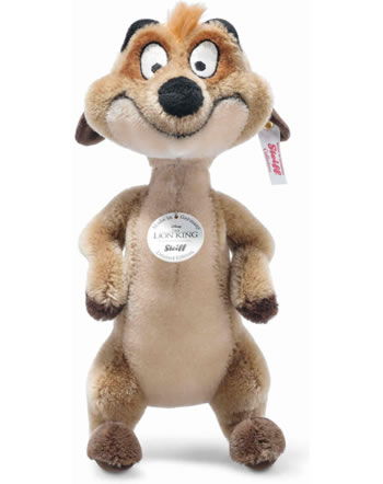 Steiff Disney Lion King Suricate Timon 24 cm ohair brun claire 355509