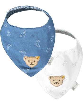Steiff Dreieckstuch 2er Pack BABY GOTS UNISEX coronet blue 2112509-6048