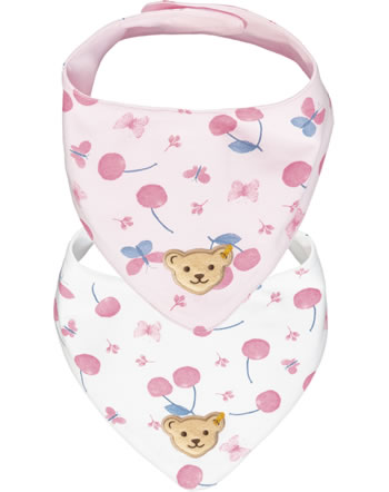 Steiff Dreieckstuch 2er Pack BEAR AND CHERRY barely pink 2013209-2560