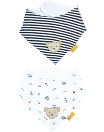 Steiff Neckerchief set of 2 BEAR CREW bright white 2012105-1000