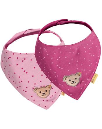 Steiff Dreieckstuch 2er Pack BEST FRIENDS Baby Girls peony 2123408-3040