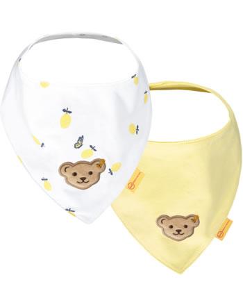 Steiff Dreieckstuch 2er Pack HELLO SUMMER Baby Girls yellow cream 2113409-2005