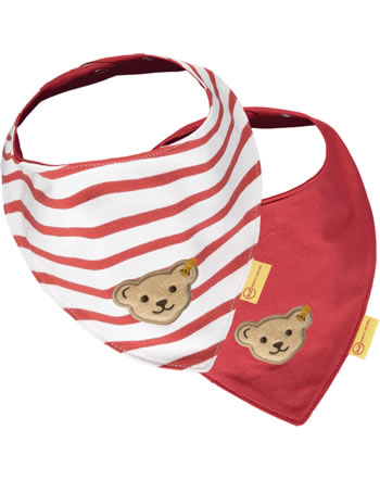 Steiff Dreieckstuch 2er Pack MARINE AIR Baby Girls true red 2112407-4015