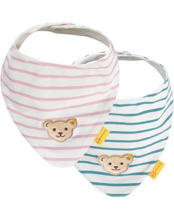 Steiff Dreieckstuch 2er Pack SWEET HEART Baby Girls adriatic blue 2121410-6045