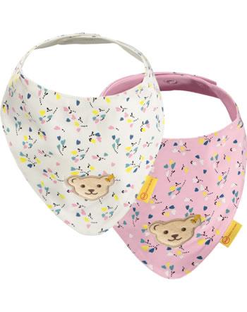 Steiff Dreieckstuch 2er Pack SWEET HEART Baby Girls pink nectar 2121410-3035