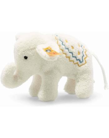 Steiff Petit éléphant avec crécelle 10 cm crème 241147