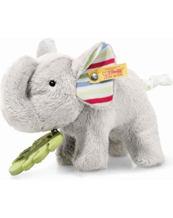 Steiff Elefant Timmi mit Beißring und Knisterfolie 17 cm grau 242021