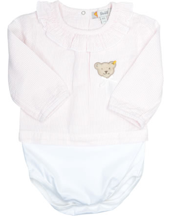 Steiff Baby bodysuit long sleevesSPECIAL DAY powder pink 2014201-7010