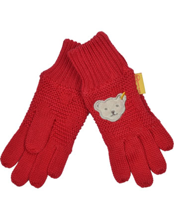 Steiff Gloves BEAR TO SCHOOL tango red 2021232-4008