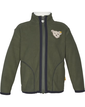 Steiff Jacket Fleece INDI BEAR Mini Boys dusty olive 2022130-5020