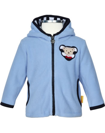 Steiff Jacket Fleece hooded BEAR TO SCHOOL kentucky blue 3021329-6020