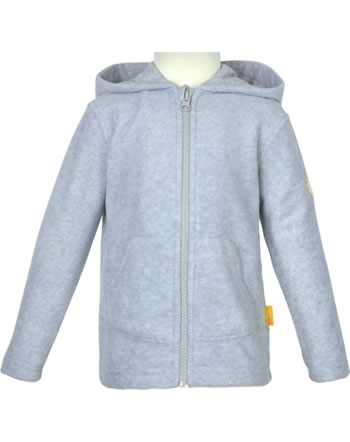 Steiff Fleece-Jacke mit Kapuze BASIC soft grey melange 0021109-9007