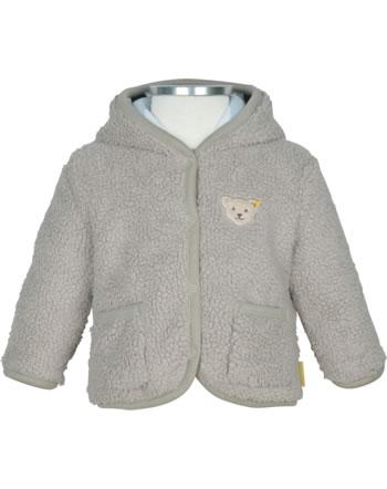 Steiff Fleece jacket with hood BEAR BLUES oxford tan 2011239-8010