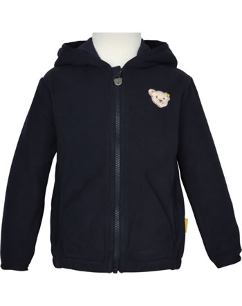 Steiff Jacket Fleece with hood BEAR TO SCHOOL steiff navy 2021217-3032