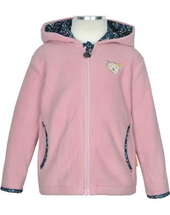 Steiff Fleece-Jacke mit Kapuze SWEET HEART pink nectar 2121217-3035