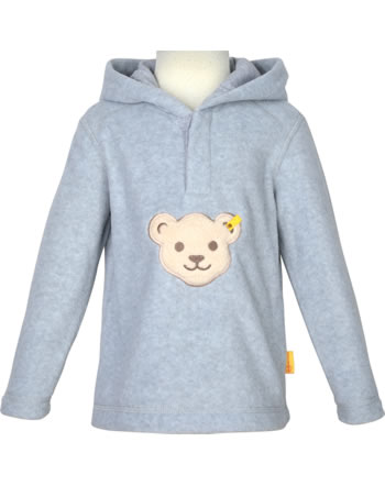 Steiff Fleece-Pullover mit Kapuze Quietsche BASIC soft grey melange 0021111-9007