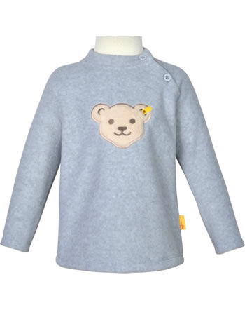 Steiff Fleece-Pullover mit Quietsche BASIC soft grey melange 0021102-9007