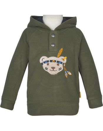 Steiff Fleece-Sweatshirt INDI BEAR Mini Boys dusty olive 2022128-5020