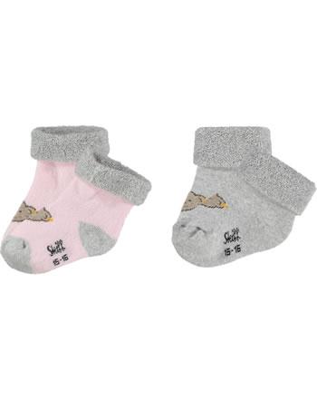 Steiff Baby socks Teddy 2 pieces barely pink 2121605-2560