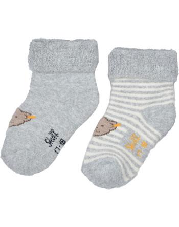 Steiff Frottee-Baby-Socken 2er Pack soft grey melange 2121605-9007