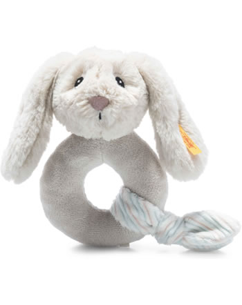 Steiff Grip toy rabbit Hoppie 14 cm light grey 242267