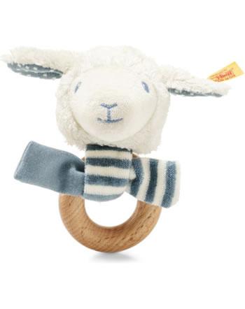 Steiff Hochet agneau Leno 12 cm blanc/pétrole 241932