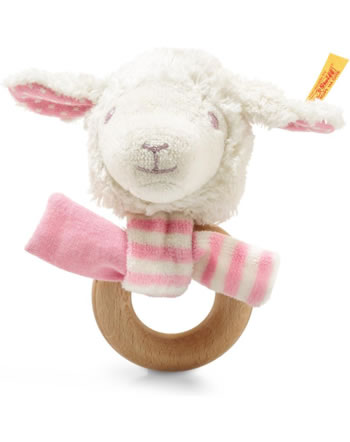 Steiff Hochet agneau Liena 12 cm blanc/rose 241925