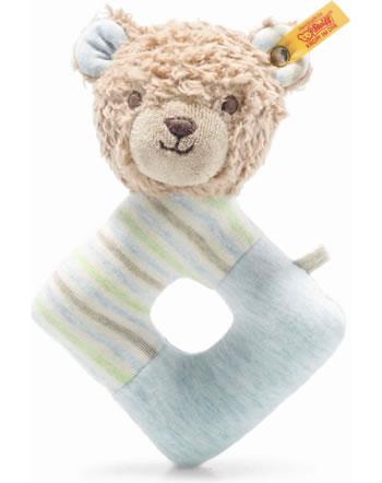 Steiff Hochet ours Teddy Rudy 15 cm brun clair/bleu 242236 GOTS
