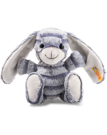 Steiff Hase Hopps 23 cm grau/blau 080296
