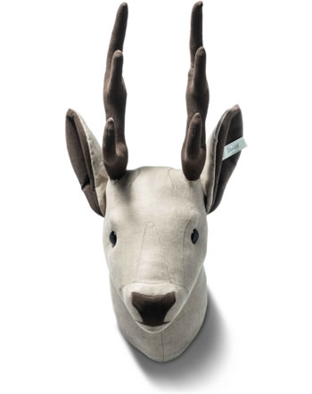Steiff Deer head 35 cm linen lightbrown Swarowski 025006