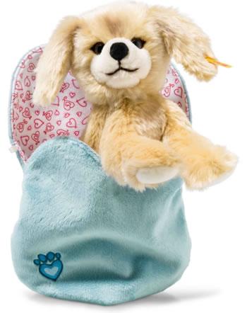 Steiff chien Kelly 22 cm blond en sac à coeur 077043