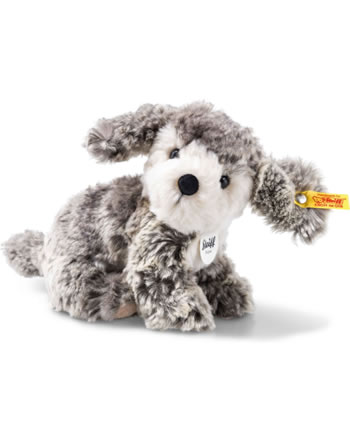 Steiff Chien Matty 18 cm gris/beige assis 079856