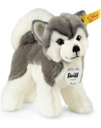 Steiff husky Bernie gris/blanc debout 17 cm 104985
