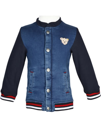 Steiff Jeans-Sweatjacke BEAR CREW ensign blue 2012143-6051