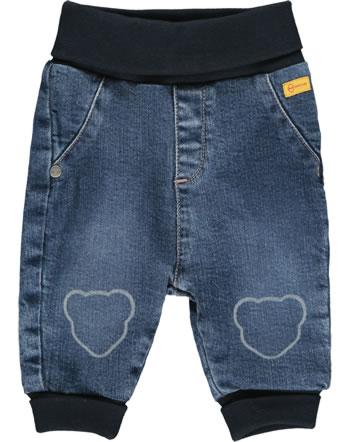 Steiff Jeanshose mit Bund SWEET HEART Baby Girls blue indigo 2121408-6050