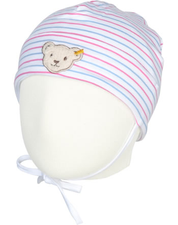 Steiff Jersey-Mütze BEAR AND CHERRY bright white 2013222-1000