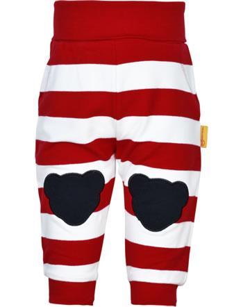 Steiff jogger Joggingpants AHOI BABY stripes tango red 2012213-4008