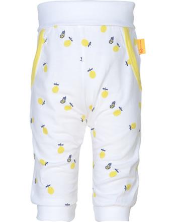 Steiff Jogger pants HELLO SUMMER Baby Girls bright white 2113412-1000