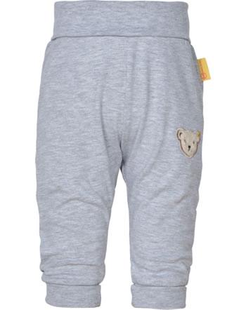Steiff Jogger pants HIGH FIVE Baby Boys soft grey melange 2111307-9007