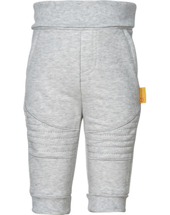 Steiff Jogger pants INDI BEAR Baby Boys soft grey melange 2022318-9007