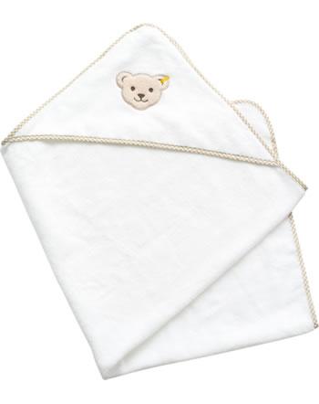Steiff Kapuzen-Badehandtuch BASIC bright white 000021312-1000