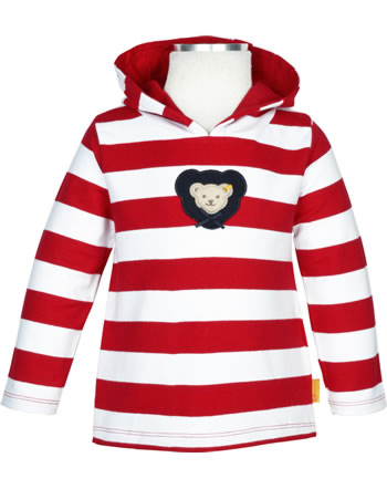 Steiff Hooded sweatshirt AHOI BABY tango red 2012238-4008