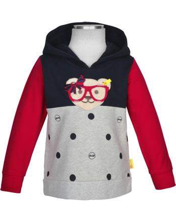 Steiff Hooded sweatshirt BEAR TO SCHOOL steiff navy 2021213-3032