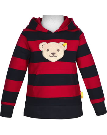 Steiff Kapuzen-Sweatshirt mit Quietsche BEAR TO SCHOOL tango red 2021106-4008