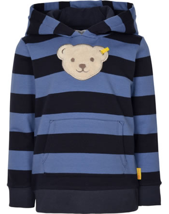 Steiff Kapuzen-Sweatshirt Quietsche LETS PLAY Mini Boys bijou blue 2121106-6066