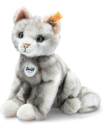 Steiff Katze Filou 21 cm grau gespitzt sitzend 122316