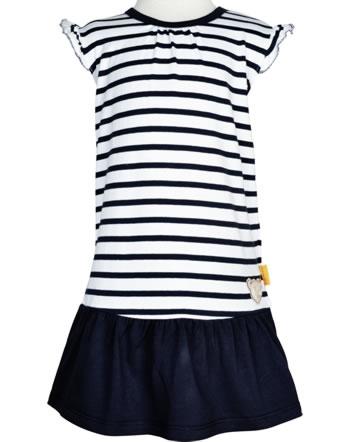 Steiff Dress cap sleeves AHOI BABY stripes steiff navy 2012216-3032