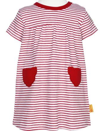 Steiff Dress short sleeve AHOI BABY stripes tango red 2012215-4008